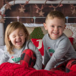 kids christmas mini session