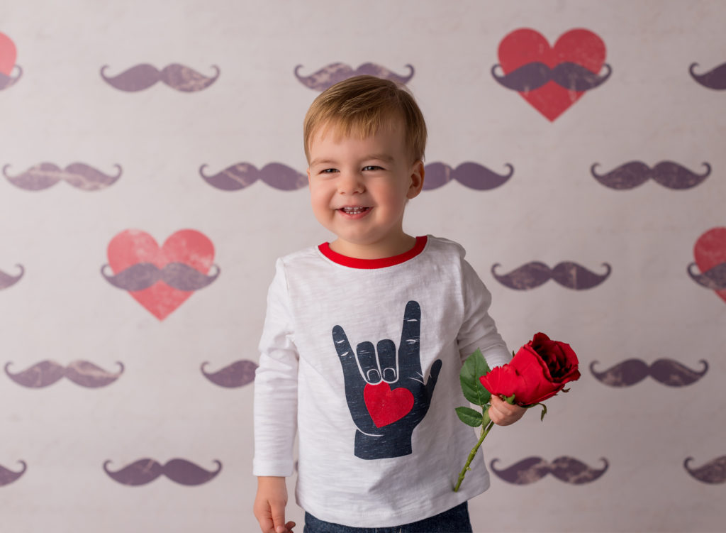 boy valentines day mini sessions